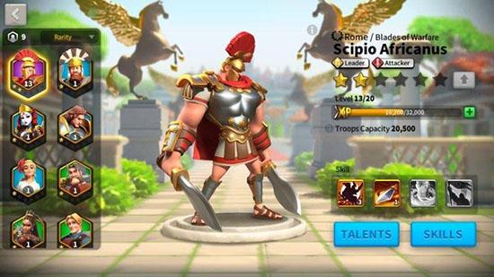 Cách nâng cấp chi huy trong game Rise Of Civilizations